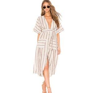 Free People Monday Linen Midi Dress